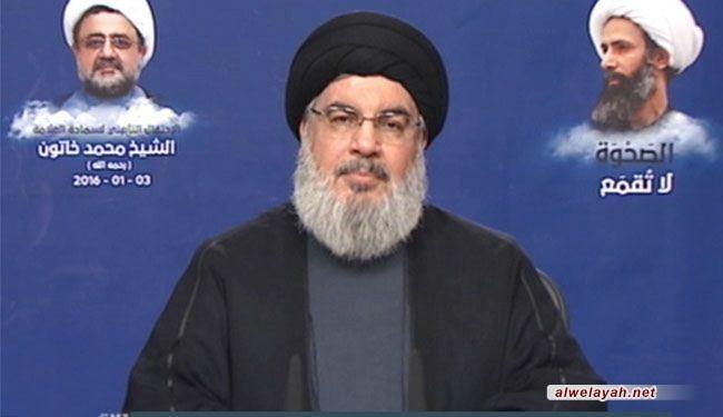 السيد نصرالله: آل سعود فرضوا أنفسهم بالمجازر والقتل والترهيب