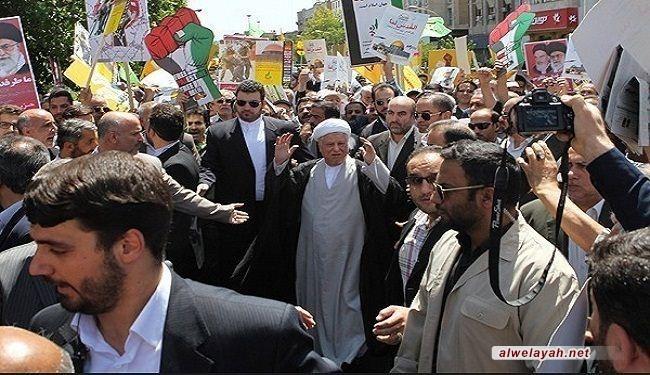 الشيخ رفسنجاني: الشعب الفلسطیني من اکثر شعوب العالم مظلومیة