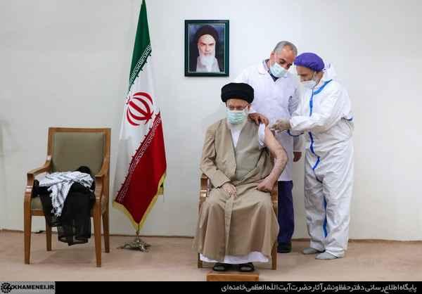 الإمام الخامنئي تلقى الجرعة الأولى من لقاح كورونا الإيراني