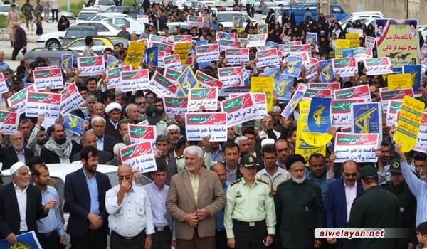 تظاهرات حاشدة في إيران رفضا لقرار ترامب ضد حرس الثورة
