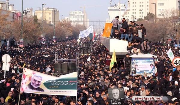 الملايين في طهران ينادون الموت لأميركا وإسرائيل وآل سعود مطالبين بالانتقام
