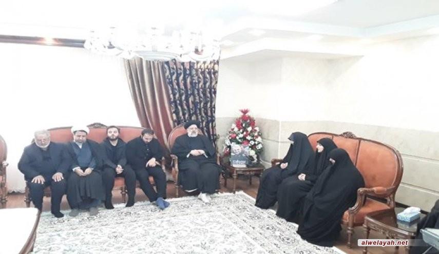 السيد رئيسي يزور أسرة الشهيد قاسم سليماني