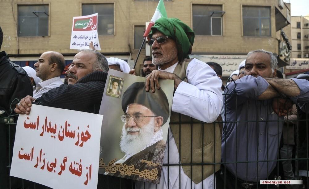 مسيرات حاشدة في أنحاء إيران للتنديد بأعمال الشغب + صور