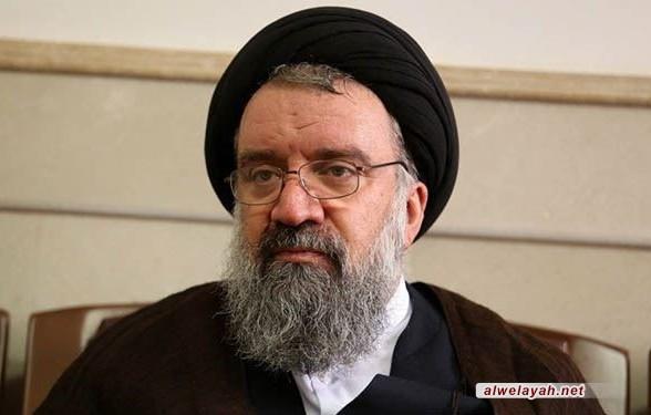 آية الله خاتمي: مشروع قائد الثورة الإسلامية لحل القضية الفلسطينية مشروع حكيم ومتناغم مع الديمقراطية