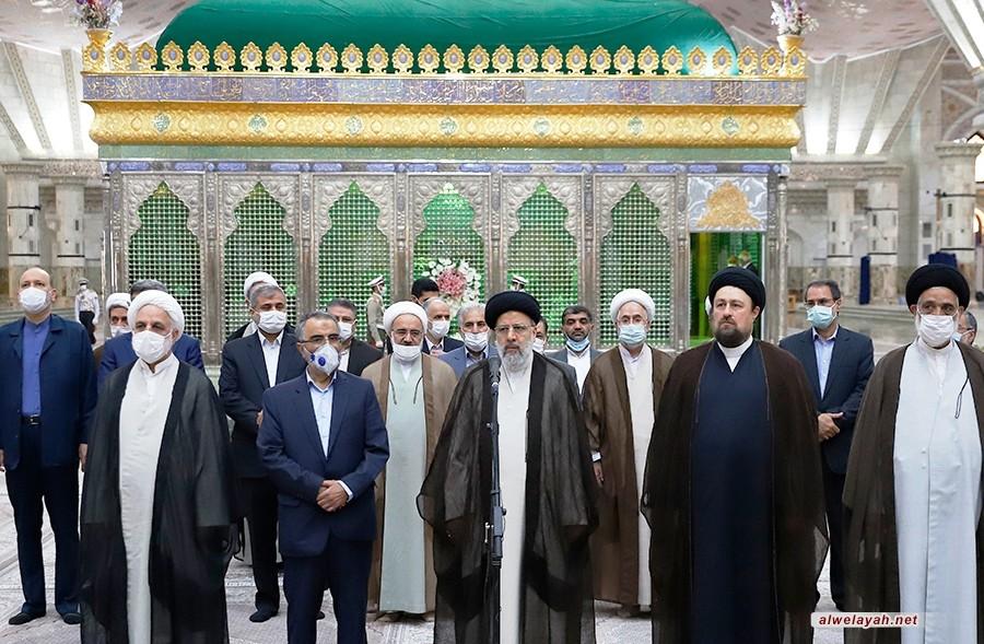 بمناسبة بدء أسبوع السلطة القضائية في إيران؛ رئيس السلطة القضائية يجدد ميثاقه مع مؤسس الثورة الإسلامية