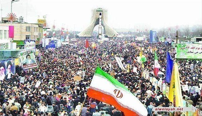 في البيان الختامي لمسيرات انتصار الثورة الشعب الإيراني يؤكد خلال مسيرات الثورة على دعم الشعوب المضطهدة وجبهة المقاومة