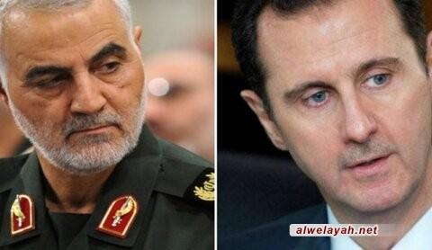 تقديم أعلى وسام سوري إلى الشهيد القائد قاسم سليماني