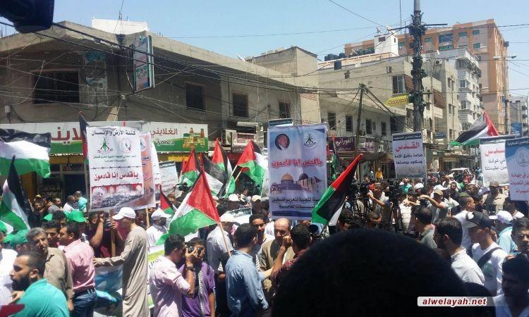 مسيرة جماهيرية مركزية في غزة الجمعة بمناسبة يوم القدس العالميمن