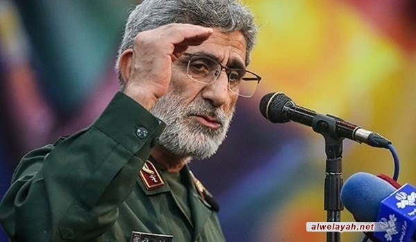 """قائد قوة """"القدس"""" يؤكد على كسر الهيمنة الأميركية"""