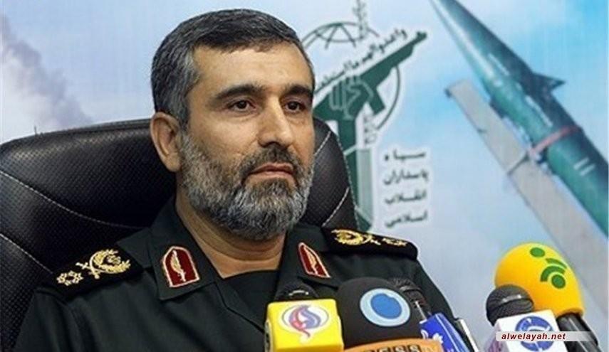 العميد حاجي زادة: الروح الجهادية العنصر الرئيس في تقدم صناعة الصواريخ