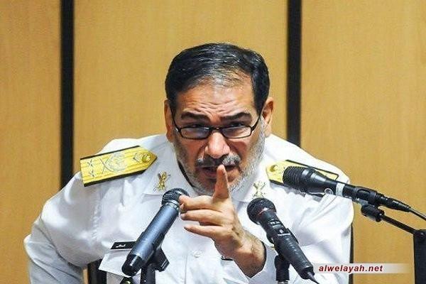 """شمخاني: عملية حزب الله ترجمان لشعار الإمام الحسين """"هيهات منا الذلة"""" في العالم"""