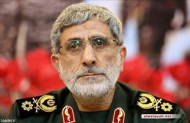 """العميد قاآني قائد فيلق القدس: """"رمضان شلح"""" كان نبراسا للمجاهدين الصادقين"""