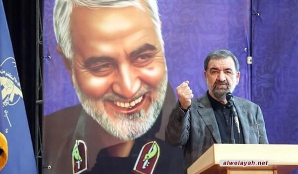 رضائي: استشهاد القائد سليماني سيتحول إلى منارة للشباب في الخطوة الثانية للثورة