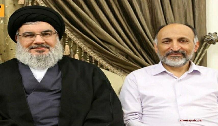أمين عام حزب الله السيد حسن نصر الله يعزي قائد الثورة الإسلامية برحيل العميد حجازي