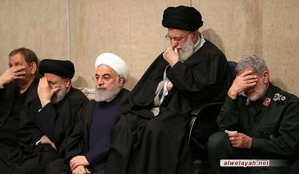 مراسم تأبين الشهيد قاسم سليماني ورفاقه بحضور قائد الثورة الإسلامية