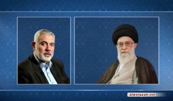هنية يهنئ الإمام الخامنئي بذكرى انتصار الثورة الإسلامية