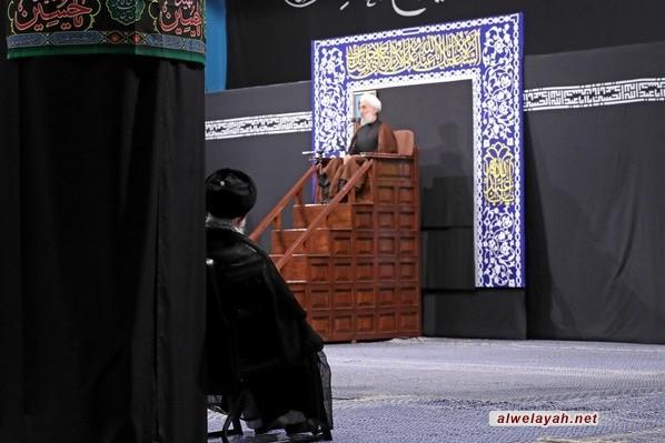 إقامة مجلس عزاء ليلة السابع من محرم بحضور قائد الثورة الإسلامية