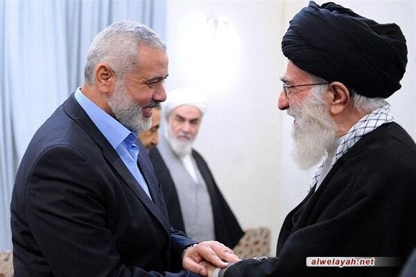 هنية يهنئ الإمام الخامنئي في الذكرى الـ 42 لانتصار الثورة الإسلامية في إيران