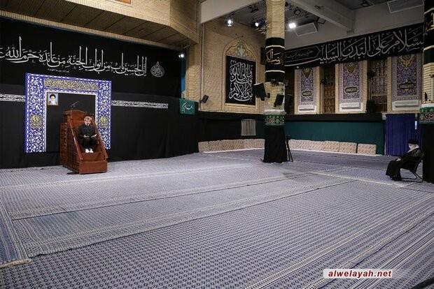 إقامة الليلة الثانية لمراسم العزاء الحسيني بحضور قائد الثورة الإسلامية