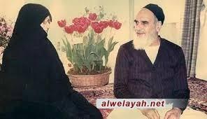 زوجة الإمام الخميني في دائرة الضوء