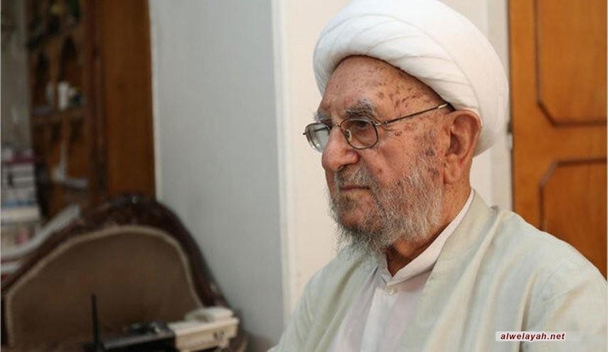 وفاة آية الله الشيخ إبراهيم الأميني في قم المقدسة