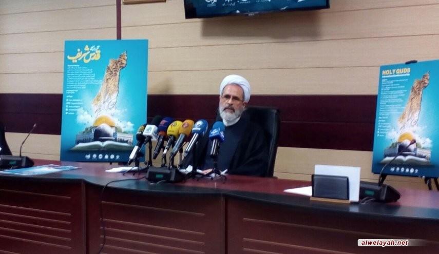 آية الله أعرافي: المؤتمر الدولي ليوم القدس العالمي سيعقد بدلاً عن مسيرات يوم القدس لهذه السنة