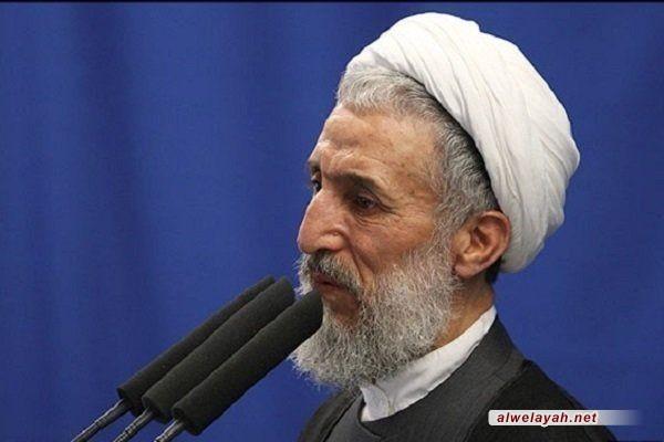 خطيب صلاة جمعة طهران: يوم القدس ميدان للمنازلة وإعلان البراءة من الكيان الصهيوني الغاصب