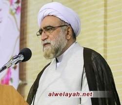 متولي العتبة الرضوية المقدسة: اليوم نداء لبيك يا حسين (ع) هو المقاومة ضد يزيد الزمان والمستكبرين