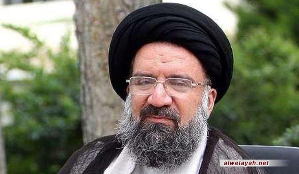 """آية الله خاتمي: بيان قائد الثورة الإسلامية الذي سمي بـ""""الخطوة الثانية"""" هو بمثابة خطة طريق لإيران"""
