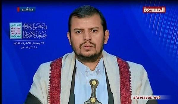 السيد الحوثي: العدو الإسرائيلي شريك في العدوان على اليمن