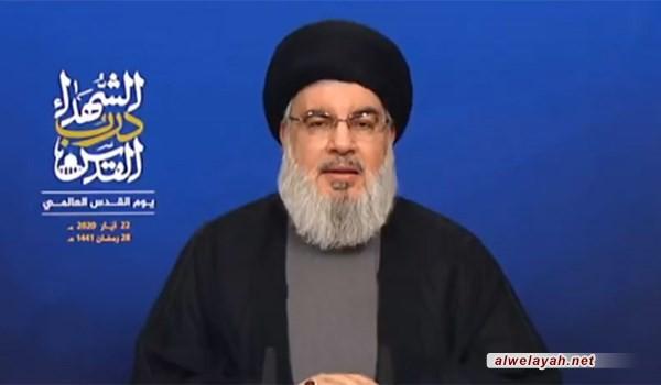 السيد نصر الله: المعركة الحقيقية هي مع الحكومات الأميركية المتعاقبة والكيان الصهيوني في المقدمة