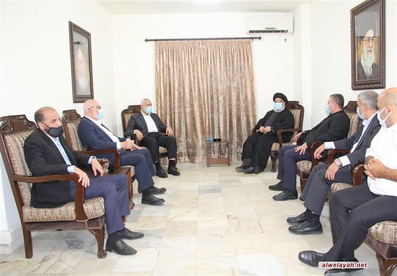 السيد نصر الله خلال لقاء هنية: تأكيد على ثبات محور المقاومة وصلابته