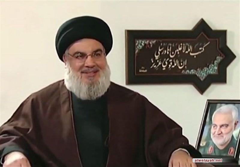 السيد نصر الله: أميركا وإسرائيل والسعودية شركاء في جريمة اغتيال القائدين سليماني والمهندس