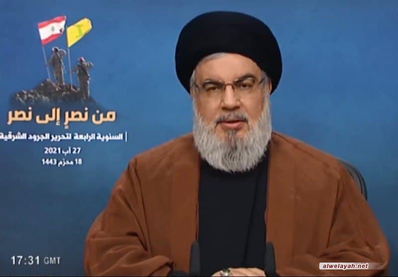 """السيد نصر الله: كما نقول للصهاينة """"وإن عدتم عدنا"""" نقول لكل الإرهابيين """"وإن عدتم عدنا"""""""
