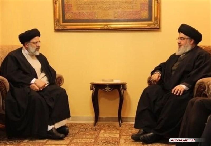 السيد رئيسي للسيد نصر الله: لا يمكن لأي طرف في المنطقة ولا لأي قوة دولية أن يتجاهل وجود حزب الله