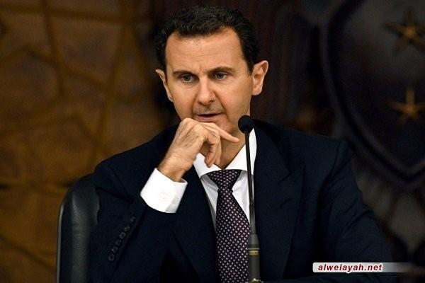 الأسد يجدد إدانة سوريا للخطوة الأميركية غير المسؤولة ضد الحرس الثوري