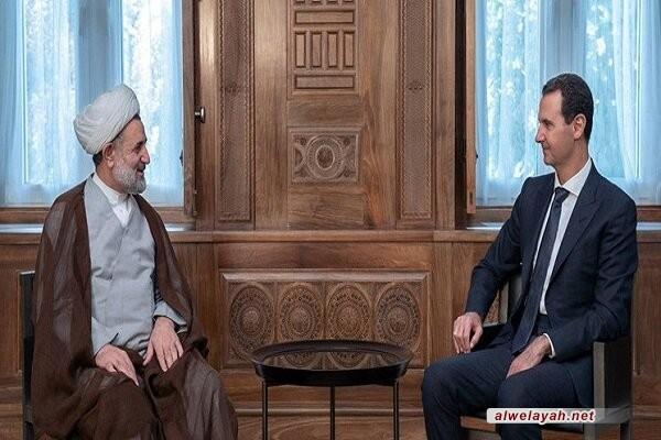 ذوالنور خلال لقائه بالرئيس السوري: وحدة دول محور المقاومة مفتاح الانتصار على نظام الهيمنة