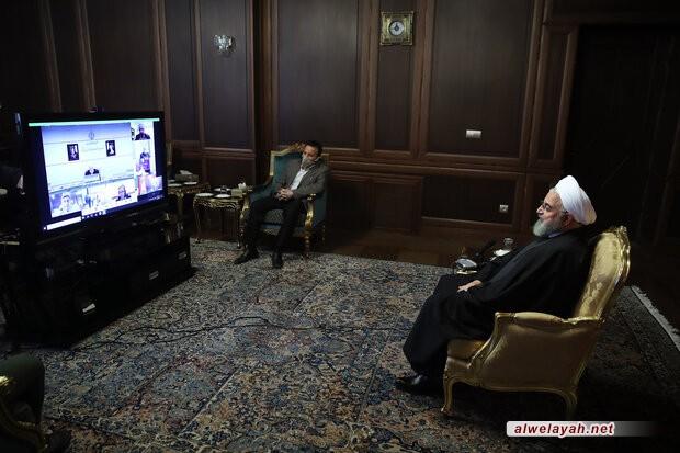 الرئيس روحاني يشكر قائد الثورة الإسلامية على مرسوم تنشيط المقر الصحي للقوات المسلحة