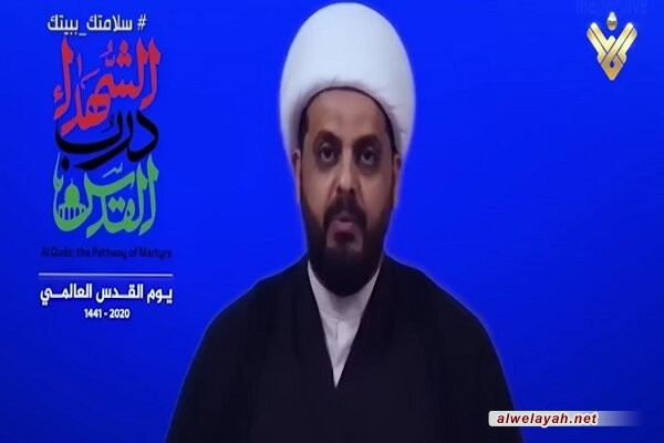 الشيخ الخزعلي: دماء الحاج قاسم سليماني وأبو مهدي ستقضي على مصالح أمريكا وإسرائيل