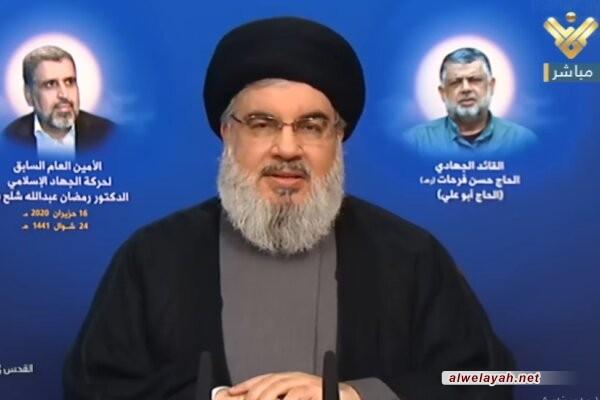 السيد نصر الله: شعار نزع سلاح المقاومة يعد ظلما وخطيئة