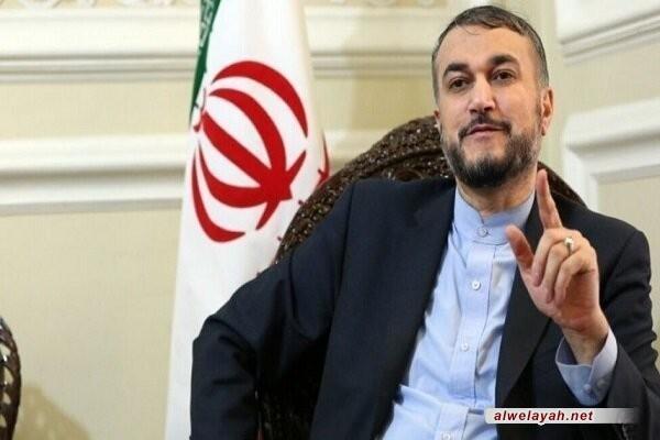عبداللهیان: قائد الثورة والشعب والتعبئة عناصر ضمان الثورة وإيران