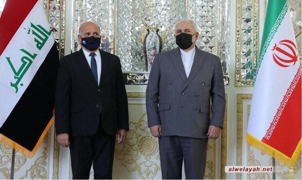 وزير الخارجية الإيراني يبحث مع نظيره العراقي اغتيال القائد الشهید سليماني