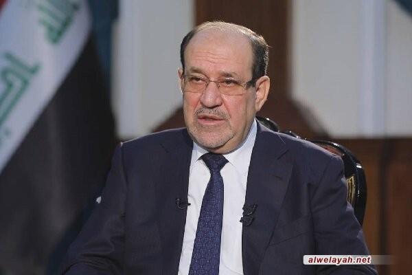 المالكي يعزي قائد الثورة الإسلامية بوفاة آية الله الشيخ محمد يزدي