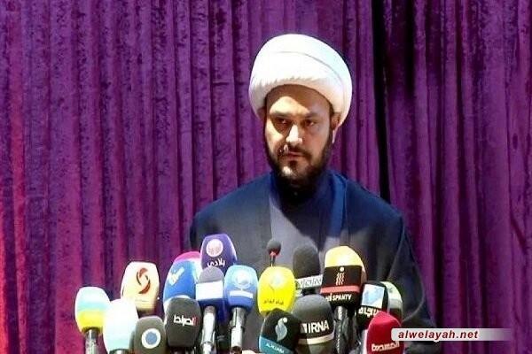الشيخ أكرم الكعبي يعزي قائد الثورة برحيل العميد حجازي