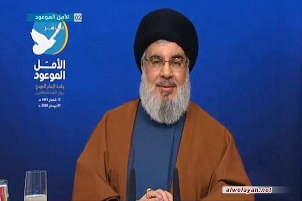 السيد نصر الله: من واقع إخلاص الشهيد الصدر كان تأييده للثورة الإسلامية وللإمام الخميني