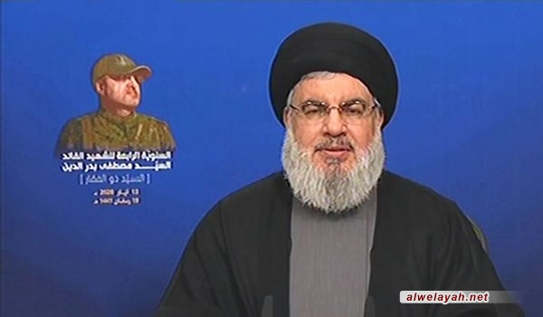 السيد نصر الله: المشروع الأميركي الصهيوني السعودي سعى لتتخلى سوريا عن فلسطين والجولان