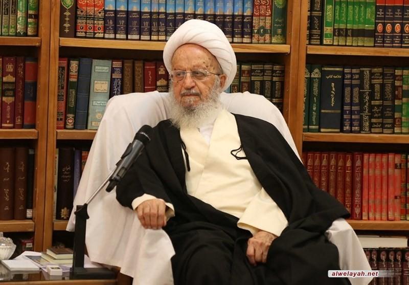 آية الله مكارم الشيرازي: الشعب الإيراني سيدخل اليأس إلى قلوب الأعداء في مسيرات ذكرى انتصار الثورة