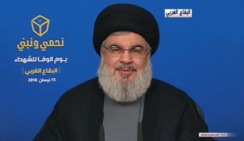 السید نصر الله: واهم من يعتقد أن الوضع في سوريا قد يتغير لمصلحة أميركا أو إسرائيل
