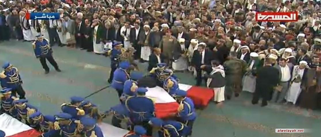 جماهير مليونية تشيع جثامين الشهيد الصماد ورفاقه في صنعاء