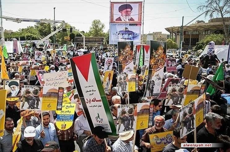 مسيرات حاشدة في إيران والعالم الإسلامي بذكرى يوم القدس العالمي